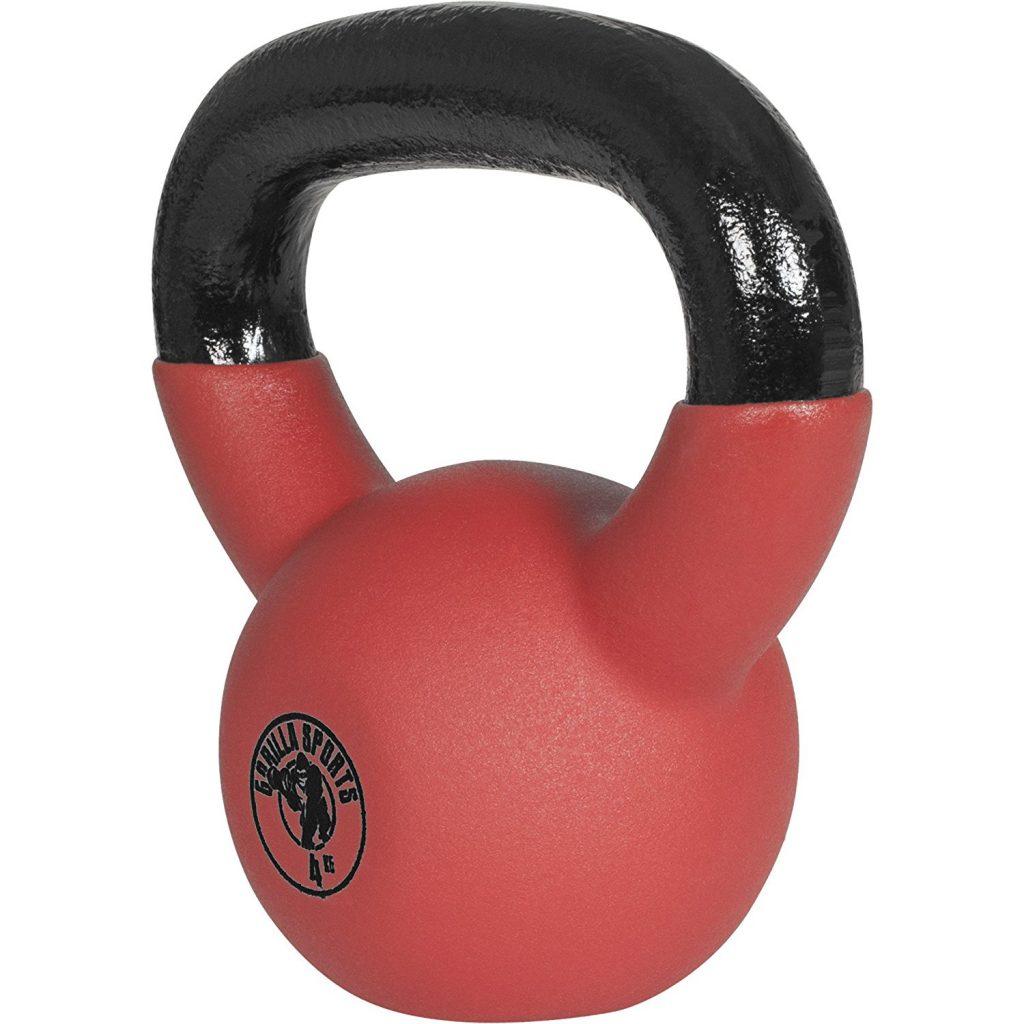 gorilla sports kettlebell red rubber 4kg lateral segunda mano