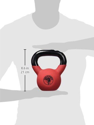 gorilla sports kettlebell red rubber 4kg adquisicion mercado clase
