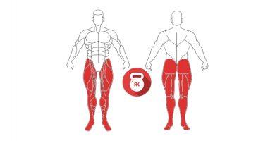 kettlebell tren inferior musculos implicados