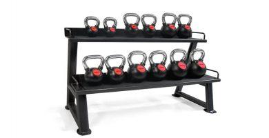 kettlebell pesa rusa rack estanteria