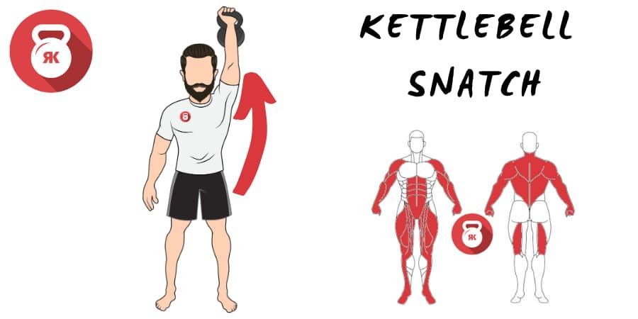 kettlebell snatch pesas rusas arrancadas