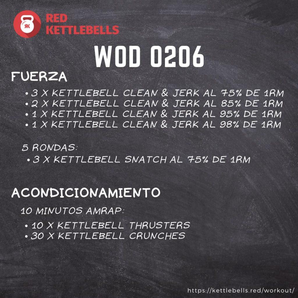 pesas rusas rutinas kettlebells workout crossfit wod 0206