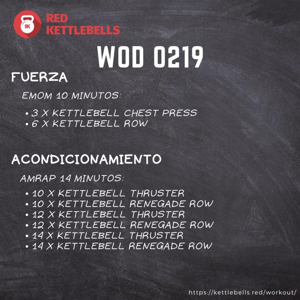 pesas rusas rutinas kettlebells workout crossfit wod 0219