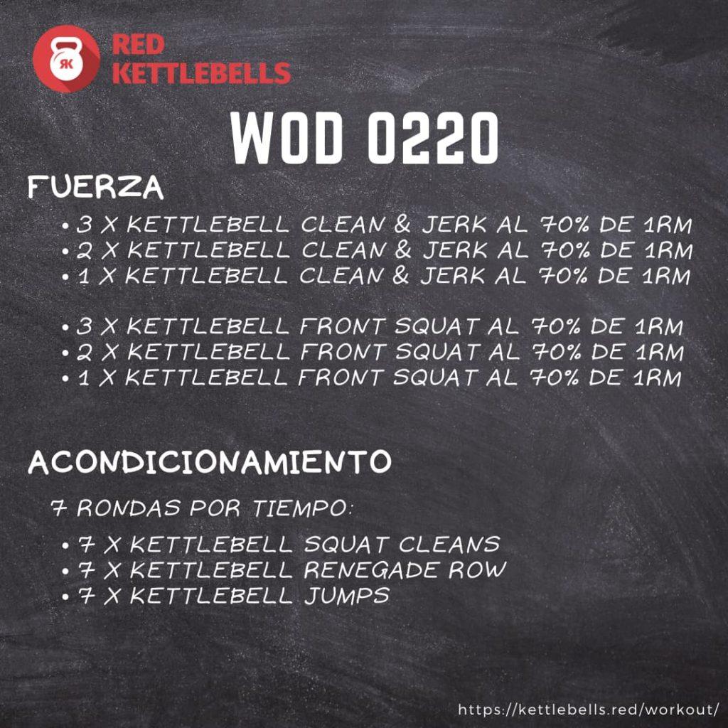 pesas rusas rutinas kettlebells workout crossfit wod 0220