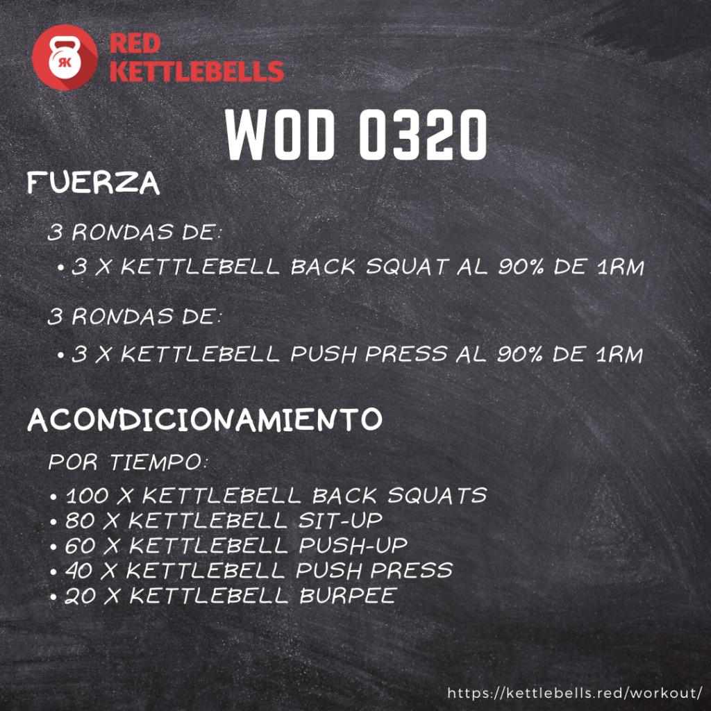 pesas rusas rutinas kettlebells workout crossfit wod 0320