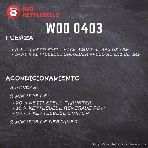 pesas rusas rutinas kettlebells workout crossfit wod 0403