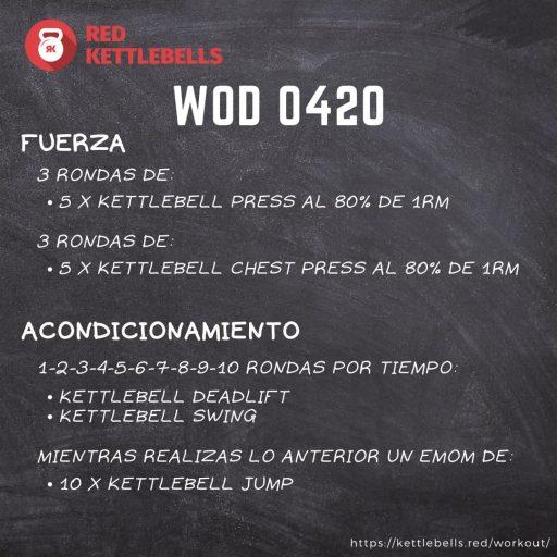 pesas rusas rutinas kettlebells workout crossfit wod 0420