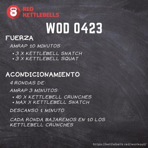 pesas rusas rutinas kettlebells workout crossfit wod 0423