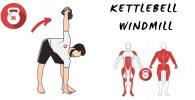 kettlebells pesas rusas ejercicio windmill molino molinillo