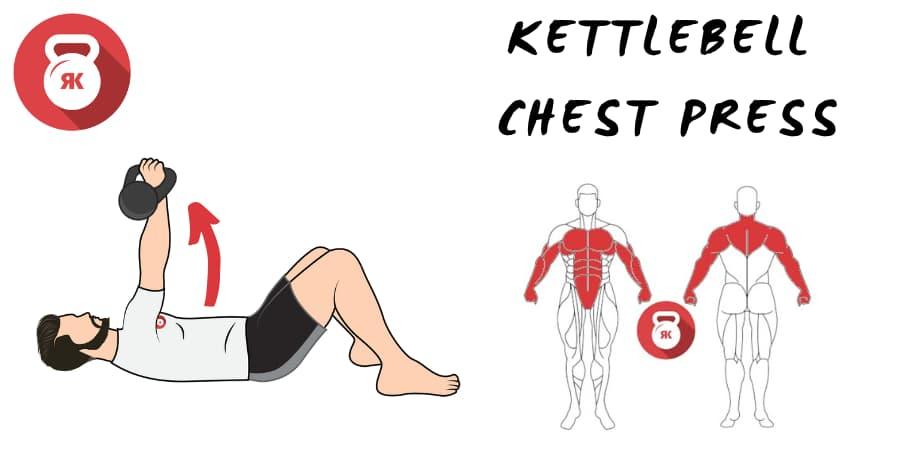 kettlebells pesas rusas ejercicio chest press empuje de pecho