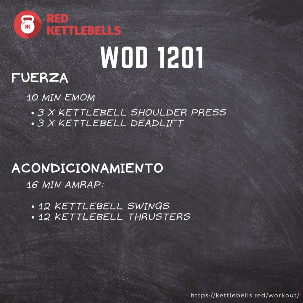 kettlebells workout crossfit wod 1201