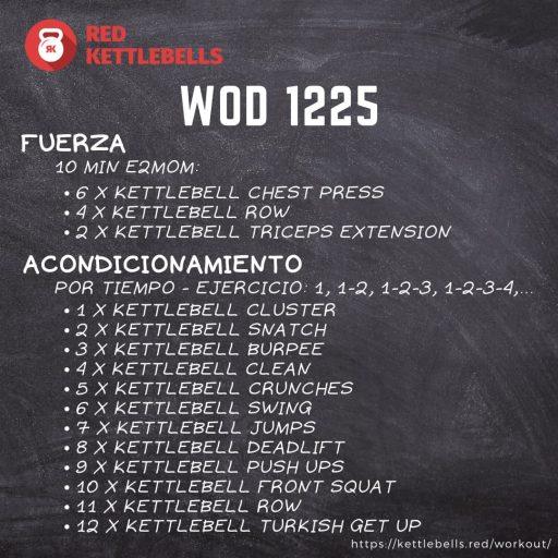 kettlebells workout crossfit wod 1225