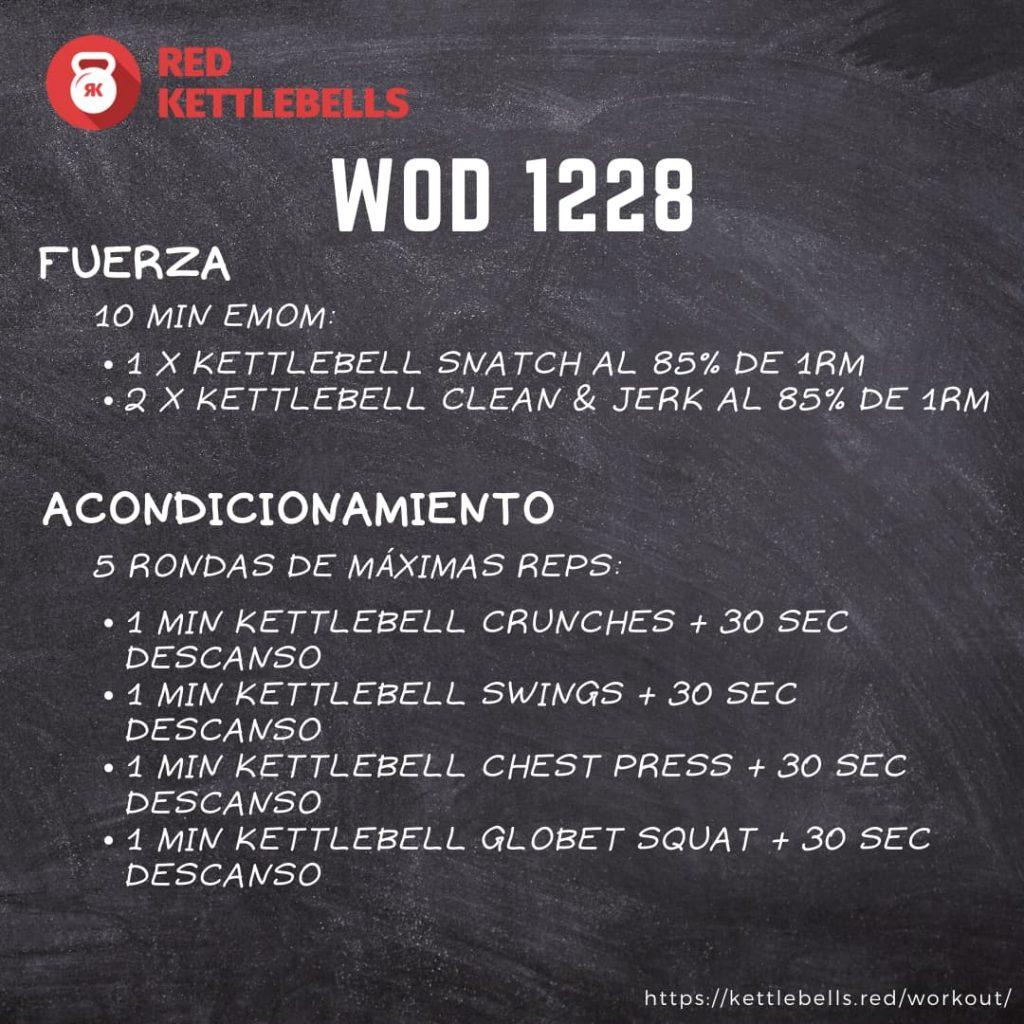 kettlebells workout crossfit wod 1228