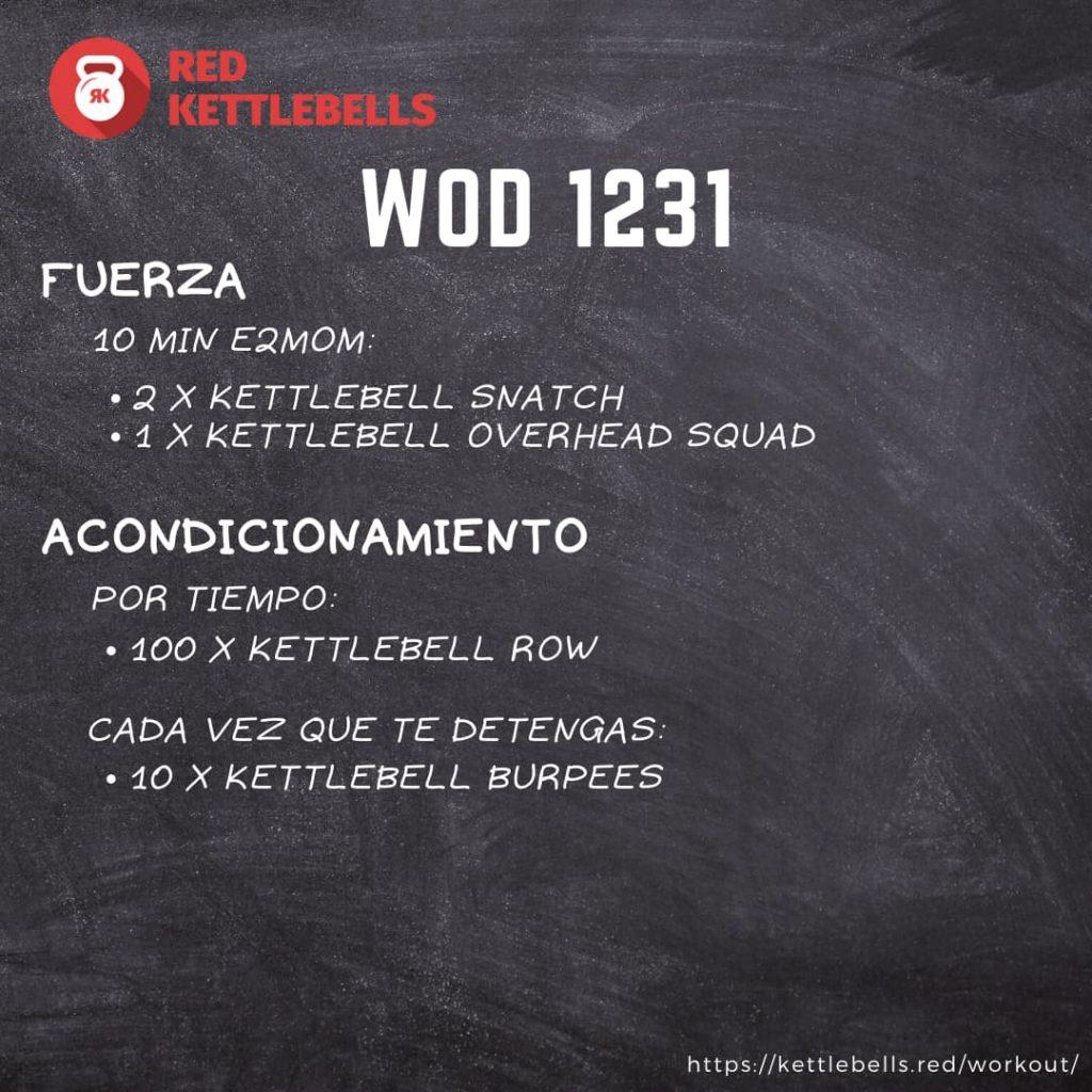 kettlebells workout crossfit wod 1231