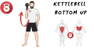 kettlebells pesas rusas movimiento bottom up