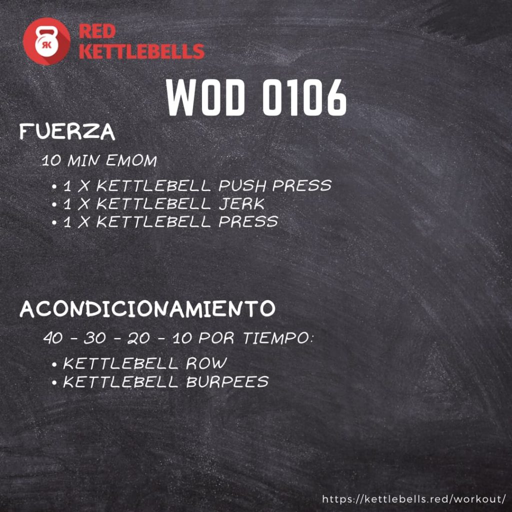 kettlebells workout crossfit wod 0106