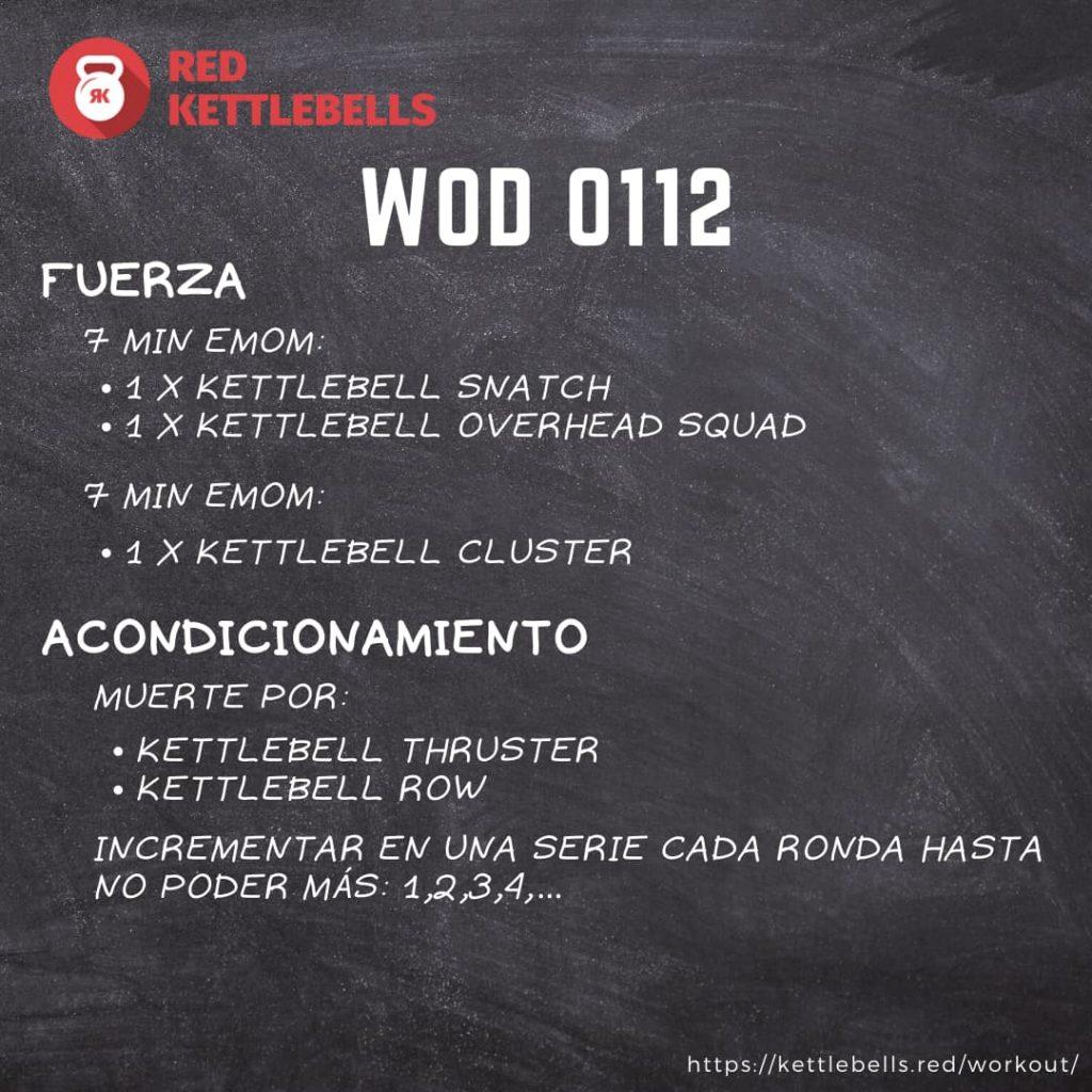 kettlebells workout crossfit wod 0112