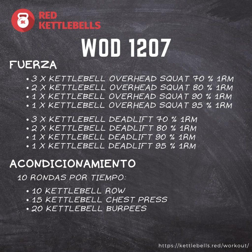 pesas rusas rutinas kettlebells workout crossfit wod 1207