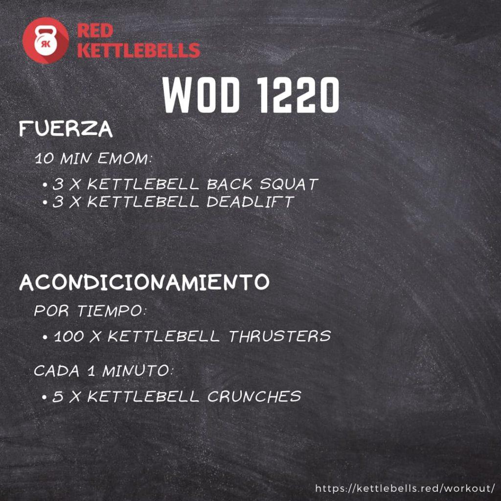 pesas rusas rutinas kettlebells workout crossfit wod 1220