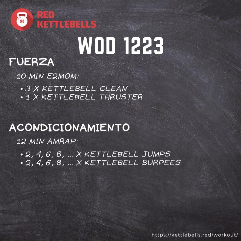 pesas rusas rutinas kettlebells workout crossfit wod 1223